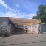 zastřešení skladu hutního materiálu - 2010